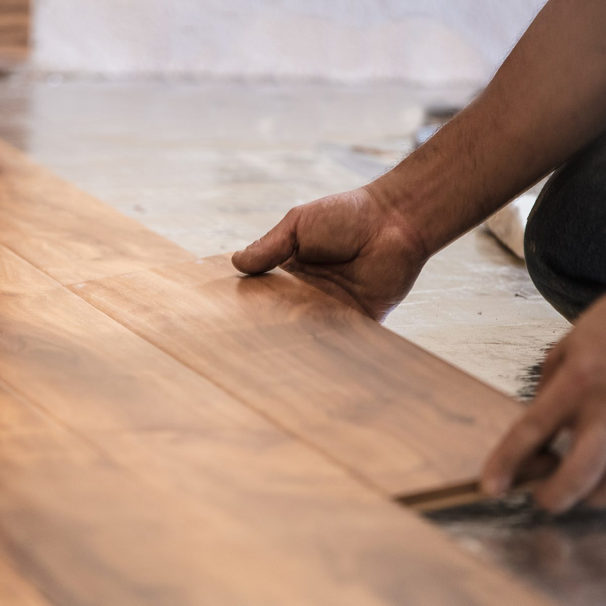 Floor repairs.