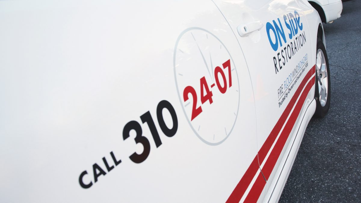 An On Side vehicle with our emergency numbers.