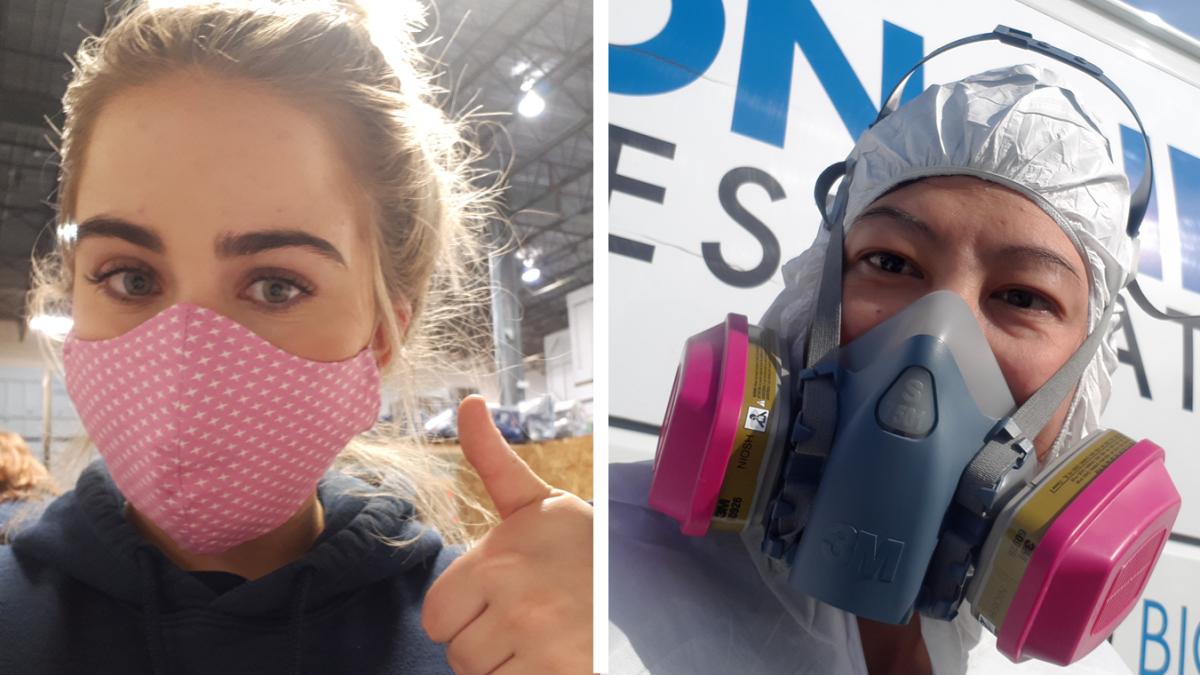 Masques chirurgicaux par rapport aux respirateurs